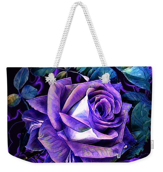 Purple Rose Bud Painting Weekender Tote Bag