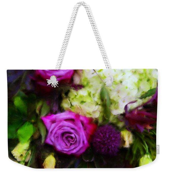 Purple Roses With Hydrangea Weekender Tote Bag