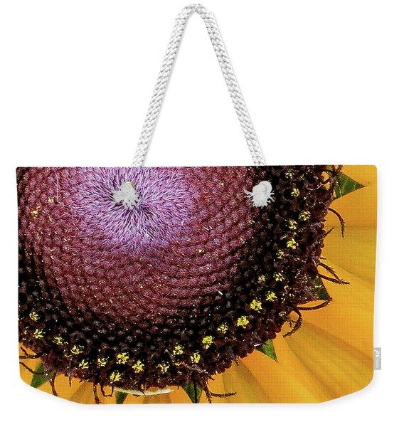 Purple Spirals Weekender Tote Bag