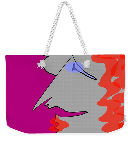 Purple Stache Weekender Tote Bag