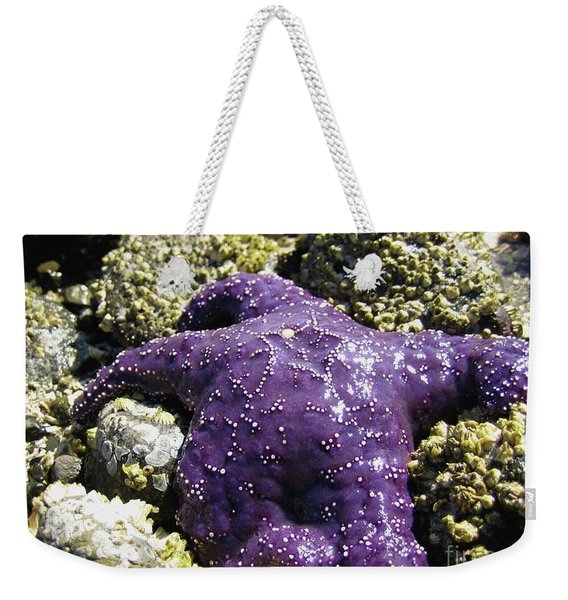 Purple Star Fish Weekender Tote Bag