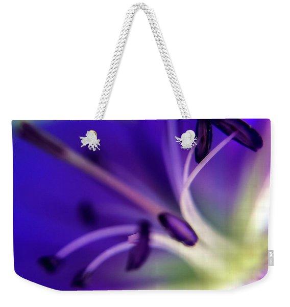 Purple Starburst Weekender Tote Bag