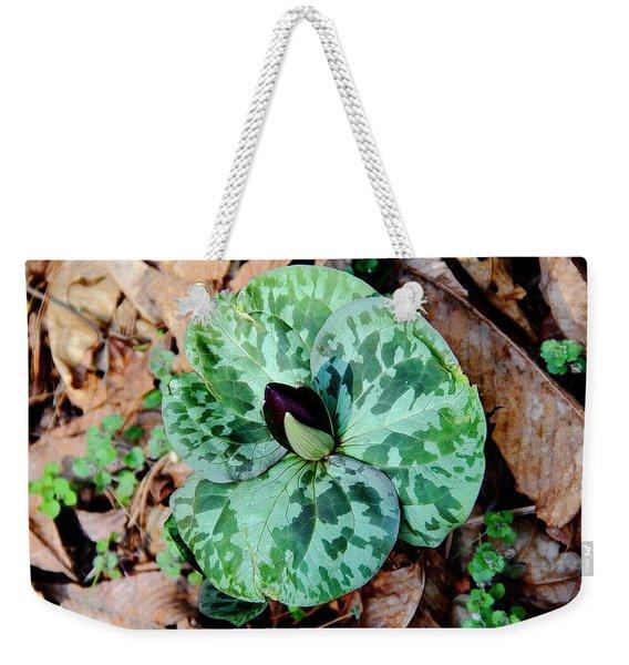 Purple Toadshade Trillium Weekender Tote Bag
