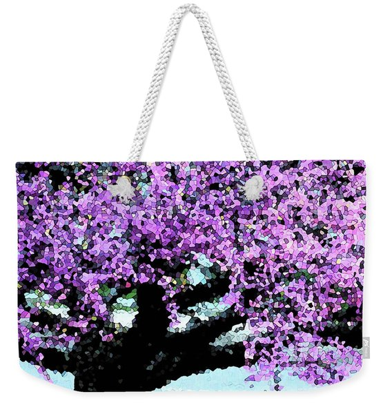 Purple Tree Weekender Tote Bag