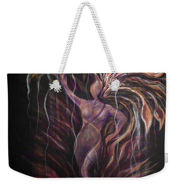 Purple Tree Goddess Weekender Tote Bag