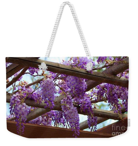 Purple Trellis Weekender Tote Bag