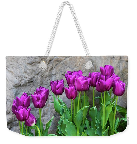Purple Tulips Weekender Tote Bag