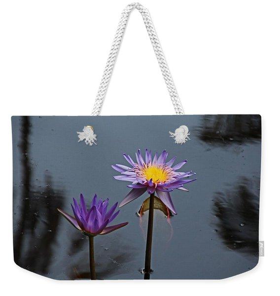 Purple Two-step Weekender Tote Bag