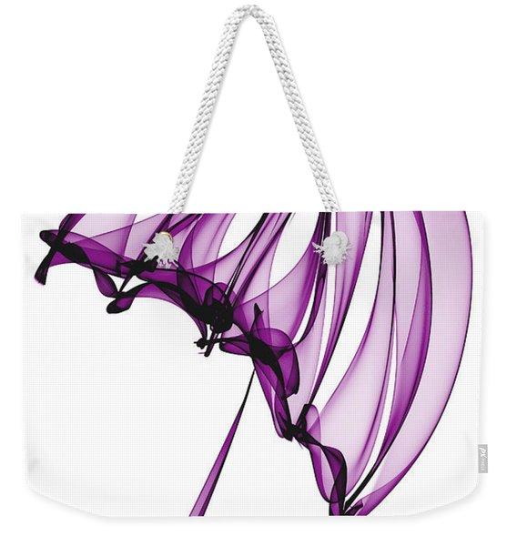 Purple Umbrella Weekender Tote Bag