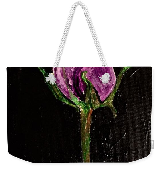 Purple Under The Moon's Glow Weekender Tote Bag