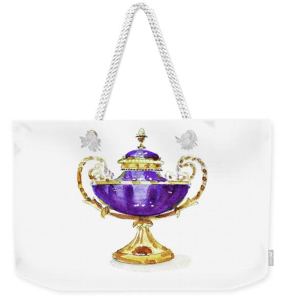 Purple Vase Weekender Tote Bag