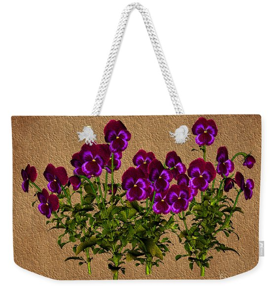Purple Violets Weekender Tote Bag