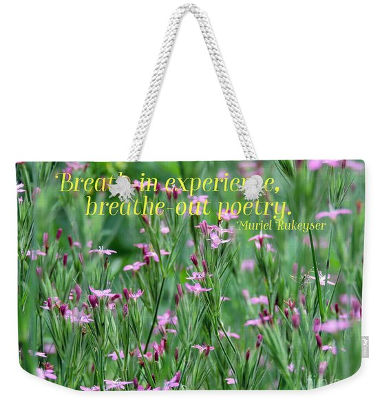 Purple Wildflower Of Poets Weekender Tote Bag