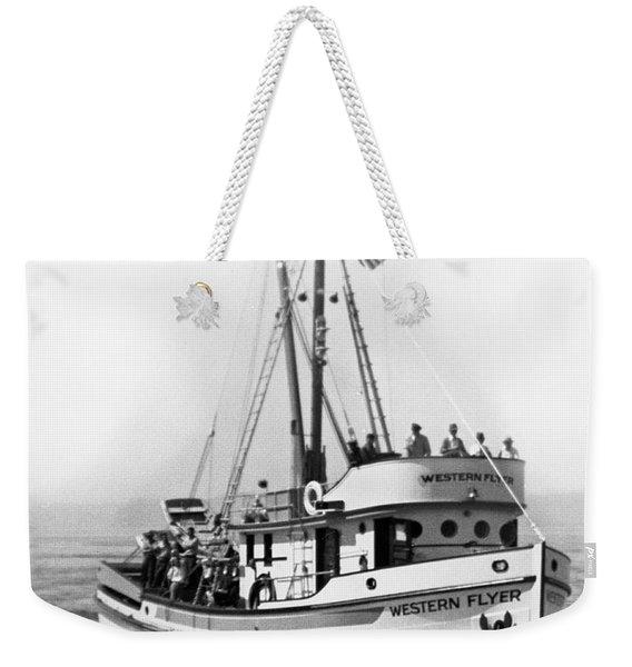 Purse Seiner Western Flyer On Her Sea Trials Washington 1937 Weekender Tote Bag