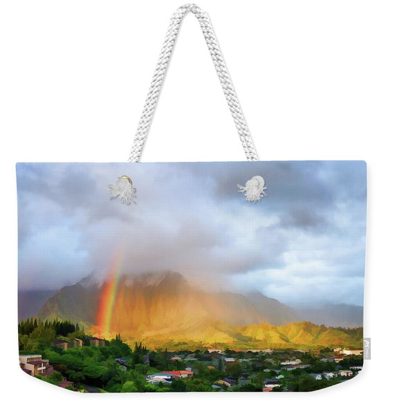 Puu Alii With Rainbow Weekender Tote Bag