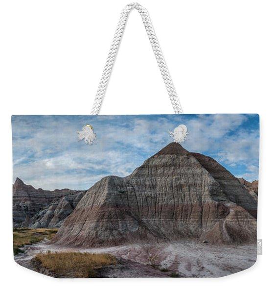 Pyramid In The Badlands Panorama Weekender Tote Bag