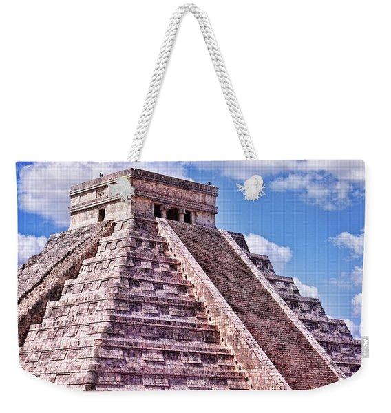 Pyramid Of Kukulcan At Chichen Itza Weekender Tote Bag