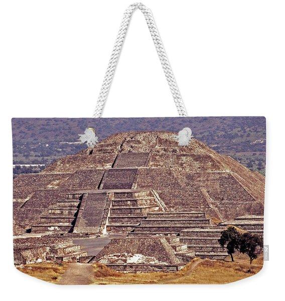 Pyramid Of The Sun - Teotihuacan Weekender Tote Bag
