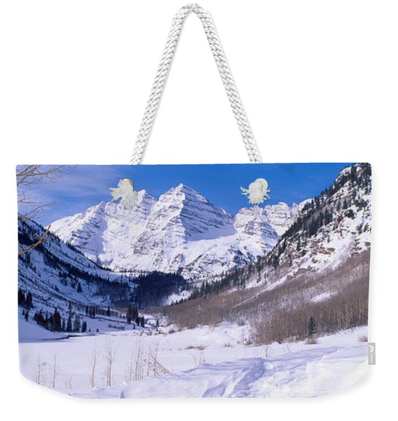 Pyramid Peak And Maroon Bells Weekender Tote Bag