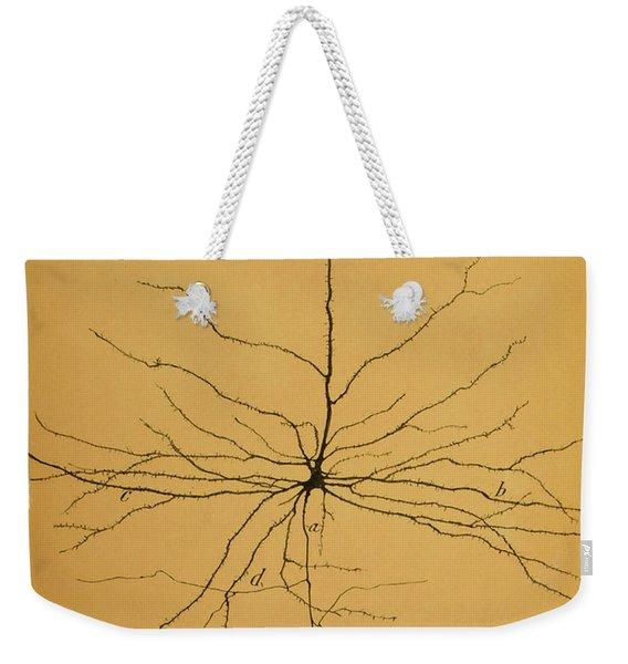 Pyramidal Cell In Cerebral Cortex, Cajal Weekender Tote Bag