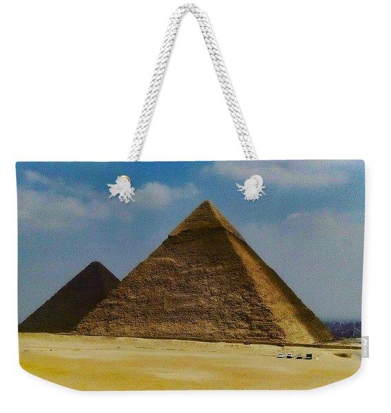 Pyramids, Cairo, Egypt Weekender Tote Bag