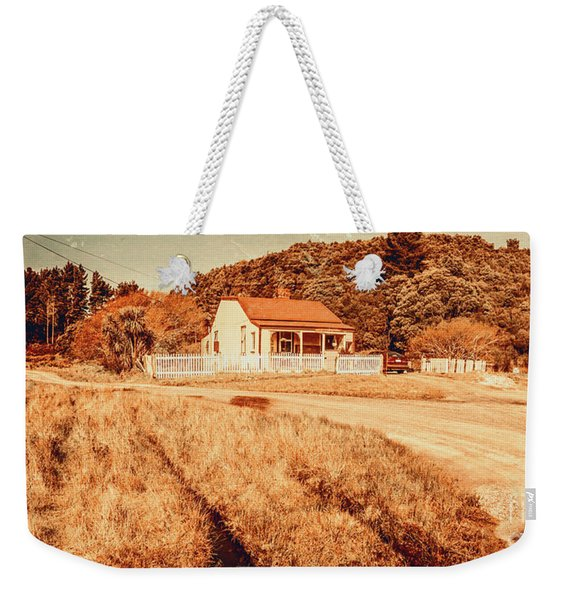 Quaint Country Cottage Weekender Tote Bag