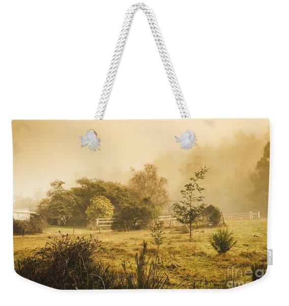 Quaint Countryside Scene Of Glen Huon Weekender Tote Bag