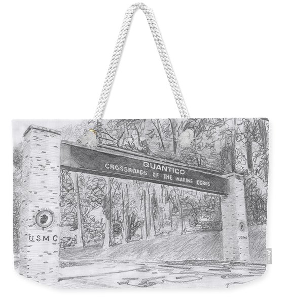 Quantico Welcome Graphite Weekender Tote Bag