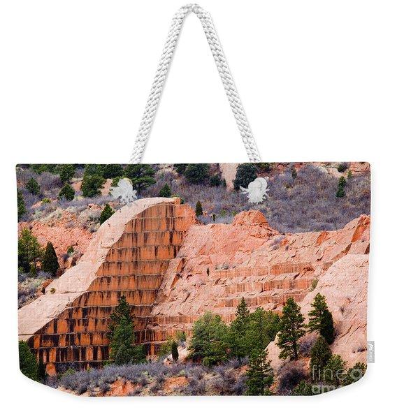 Quarry Closup At Red Rock Canyon Colorado Springs Weekender Tote Bag