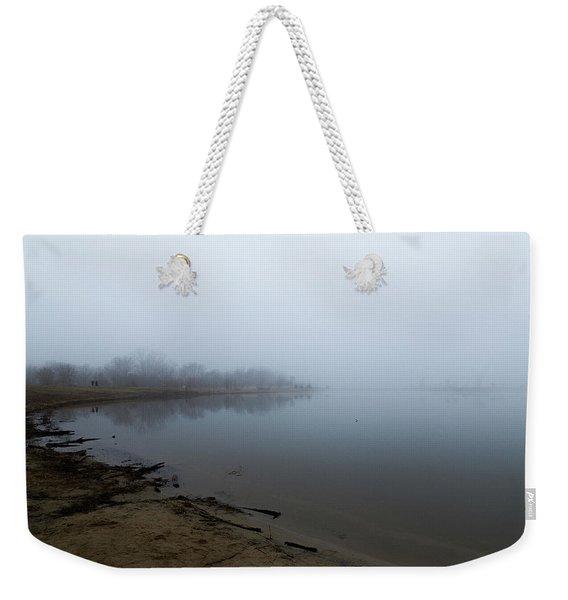 Quarry Lake - The Fog Series Weekender Tote Bag