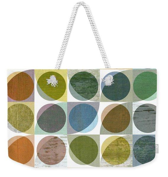 Quarter Circles Layer Project Three Weekender Tote Bag