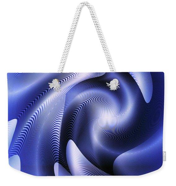 Weekender Tote Bag featuring the digital art Quarter Moon by Visual Artist Frank Bonilla