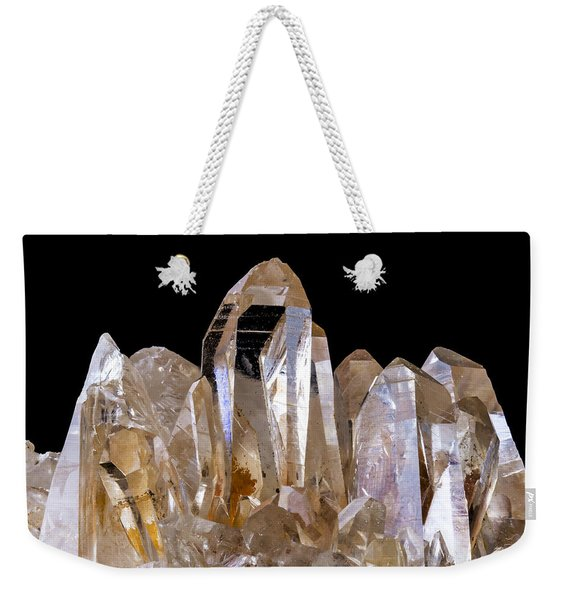 Quartz Crystals Weekender Tote Bag