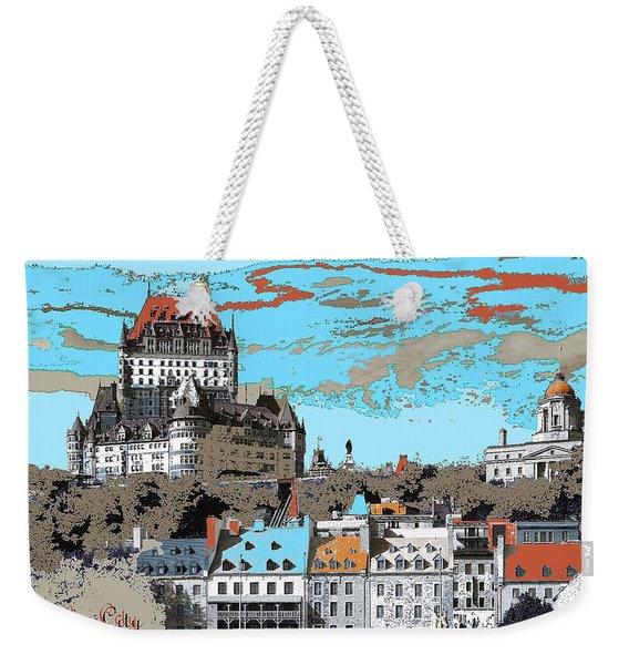 Quebec City Canada Poster Weekender Tote Bag