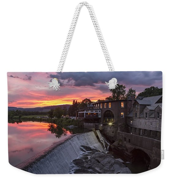 Quechee Vermont Sunset Weekender Tote Bag
