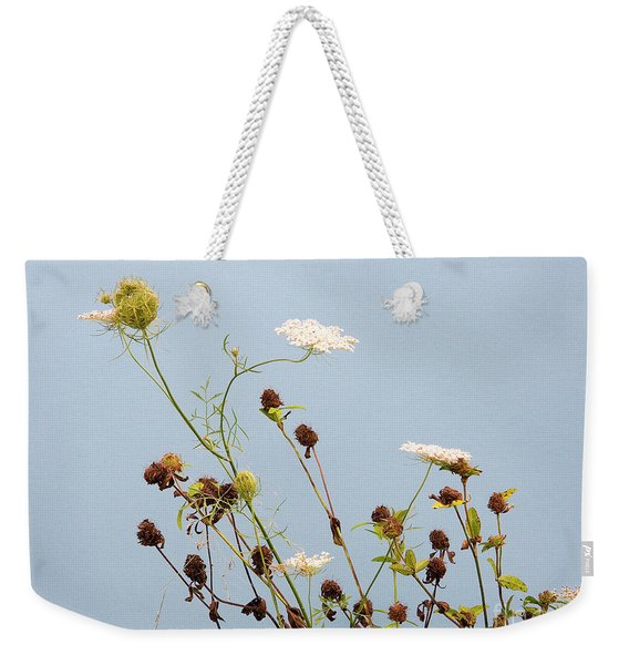 Queen Anne's Lace And Dried Clovers Weekender Tote Bag