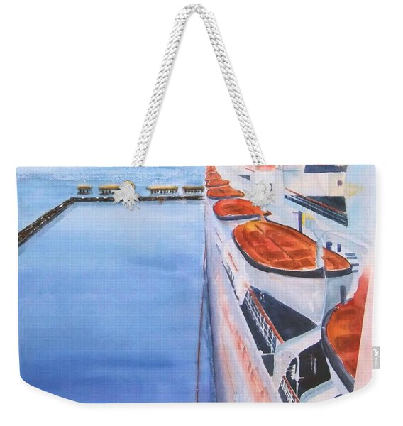 Queen Mary From The Bridge Weekender Tote Bag