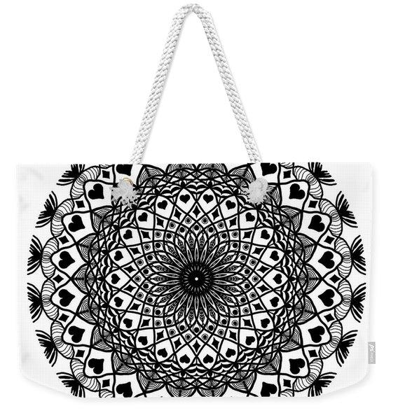 Queen Of Hearts King Of Diamonds Mandala Weekender Tote Bag