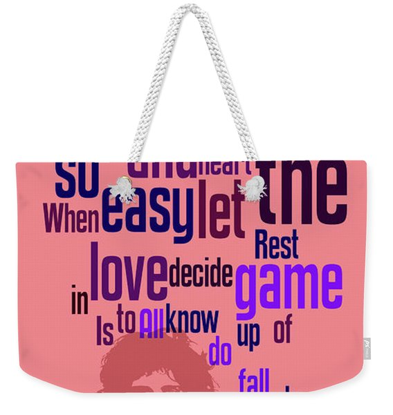 Queen. Play The Game. Can You Recognize The Song? Can You Recognize The Band? Game For Fans Weekender Tote Bag