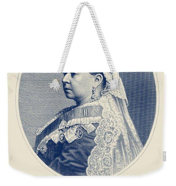 Queen Victoria Engraving - Her Majesty The Queen Weekender Tote Bag