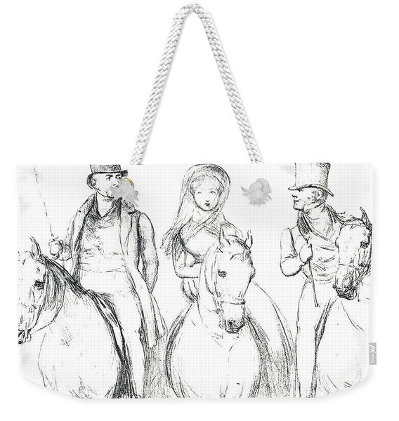 Queen Victoria, Lord Melbourne And Lord Russell  Weekender Tote Bag