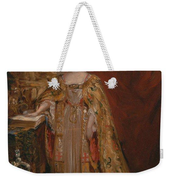 Queen Victoria Taking The Coronation Oath, June 28, 1838 Weekender Tote Bag