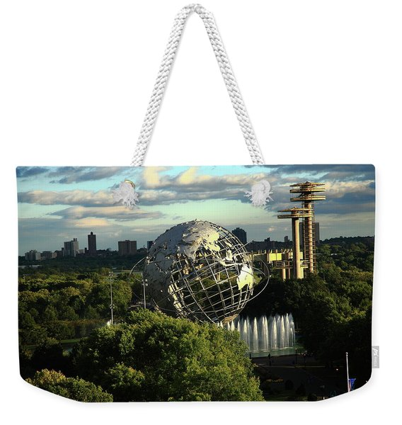 Queens New York City - Unisphere Weekender Tote Bag