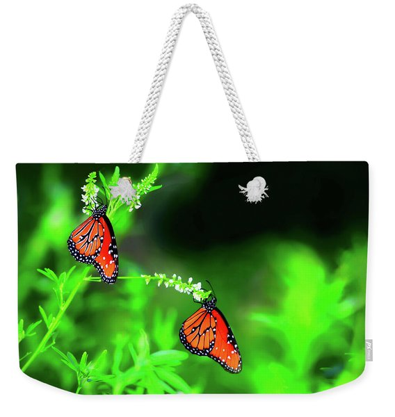 Weekender Tote Bag featuring the photograph Queens by Scott Cordell