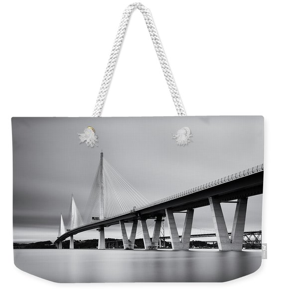 Queensferry Crossing Bridge Mono Weekender Tote Bag