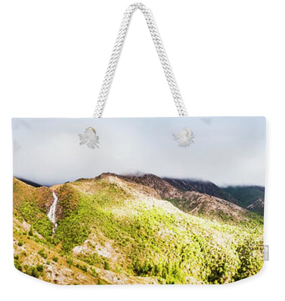 Queenstown Tasmania Wide Mountain Landscape Weekender Tote Bag