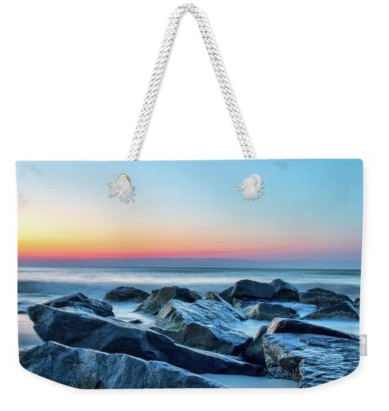 Quiet Beach Haven Morning II Weekender Tote Bag