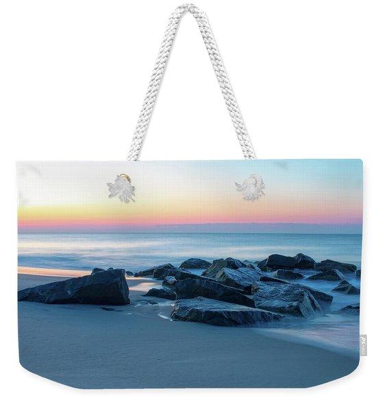 Quiet Beach Haven Morning Weekender Tote Bag