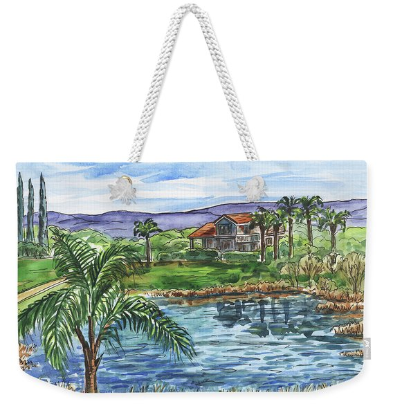 Quiet House Next To The Pond Weekender Tote Bag