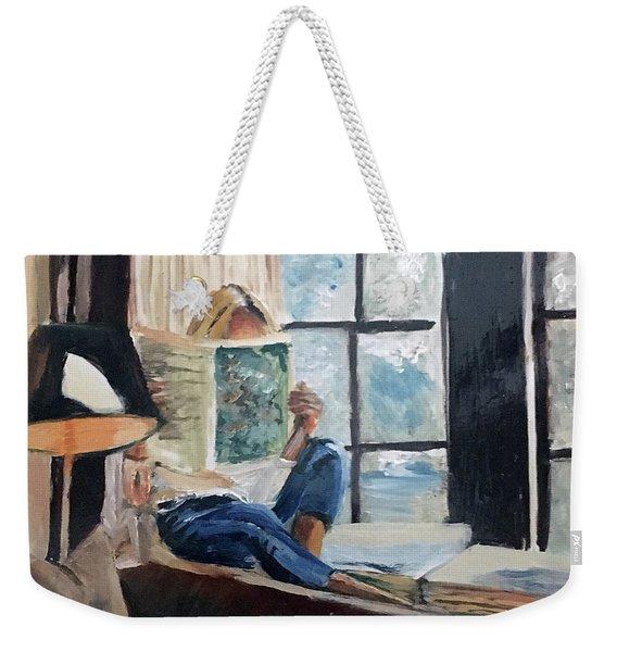 Quiet Moment Weekender Tote Bag